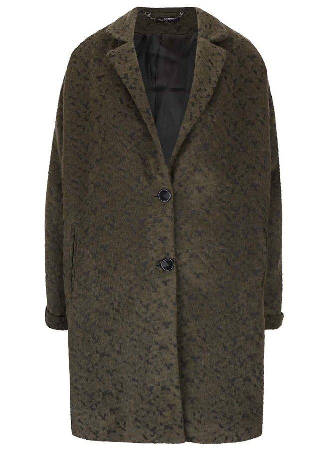 Zelený kabát s drobným vzorem Alchymi