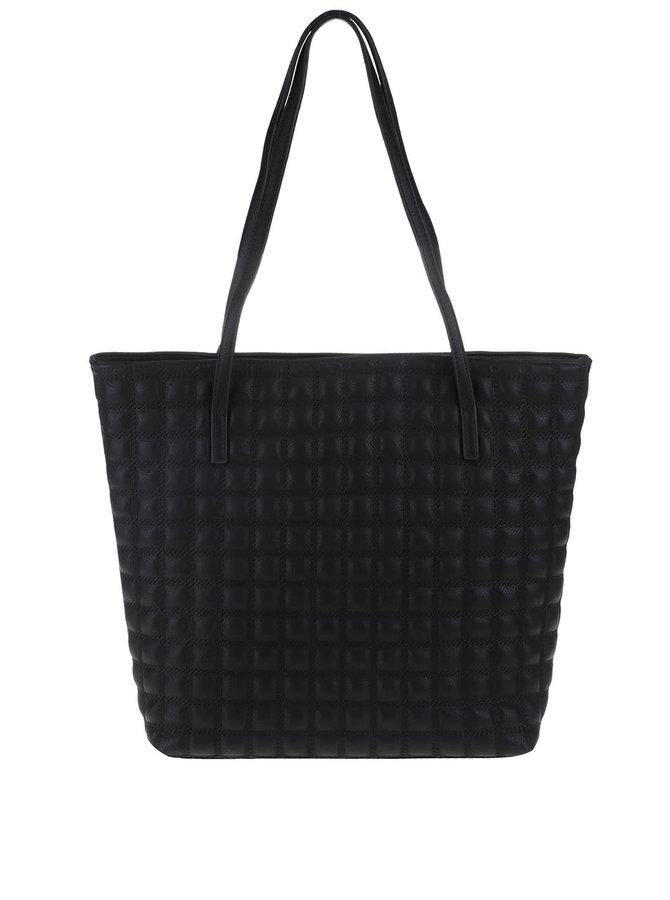 Čierny prešívaný shopper Vero Moda Sandra