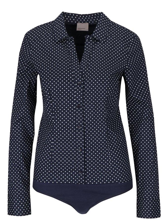 Tmavě modrá vzorovaná body košile Vero Moda Lady