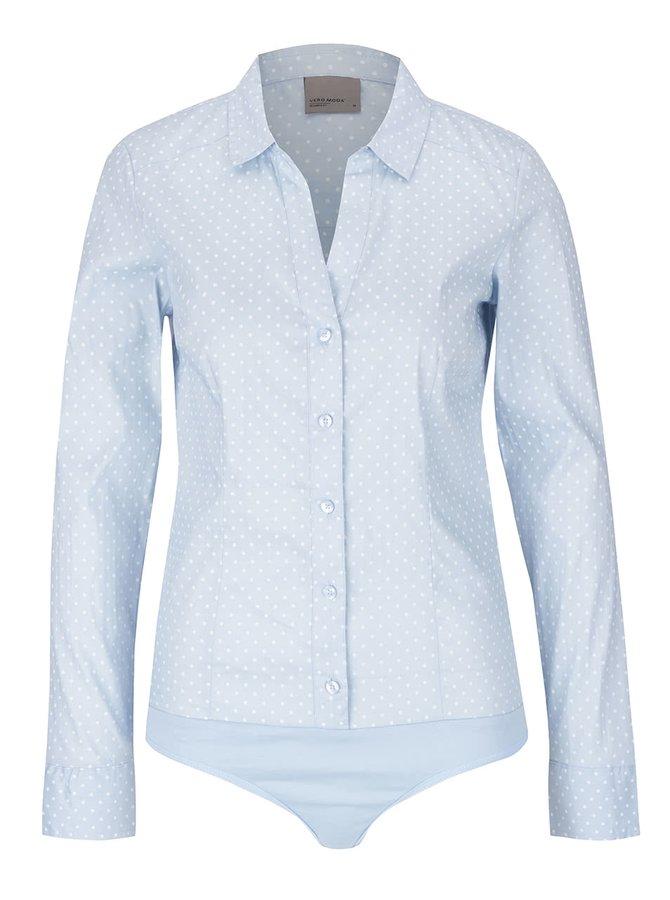 Světle modrá vzorovaná body košile Vero Moda Lady