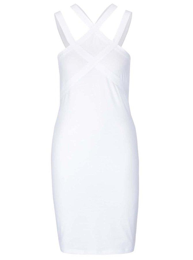 Biele šaty na ramienka Noisy May Laila