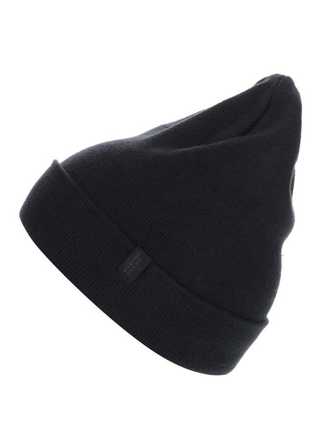 Čierna čiapka Selected Homme Hleth