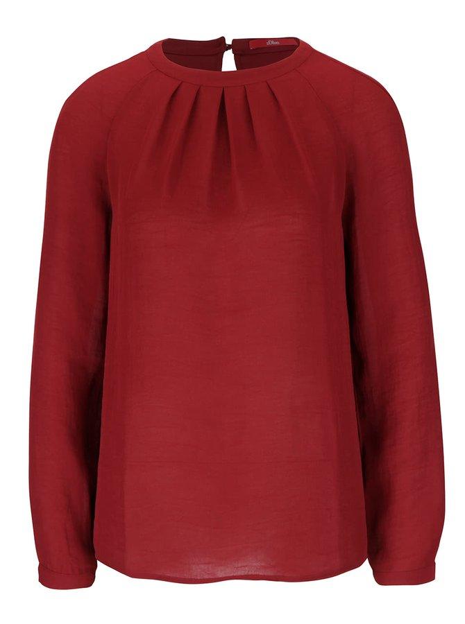 Bluză roșu burgund s.Oliver