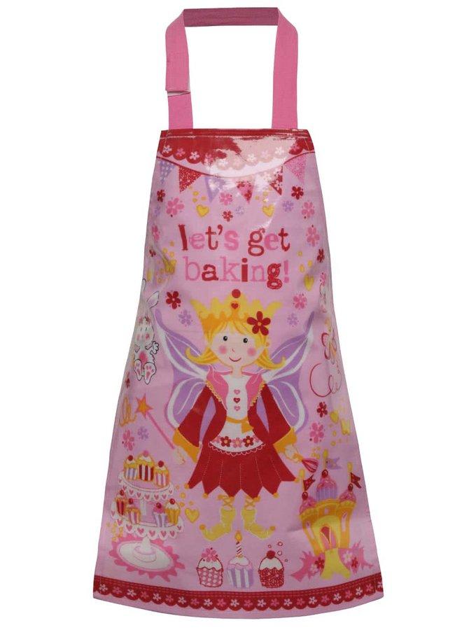 Ružová dievčenská zástera na varenie s princeznovským motívom Cooksmart