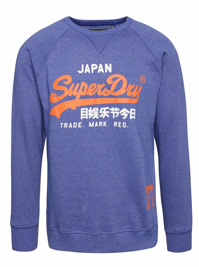 Bluză albastru Superdry cu print