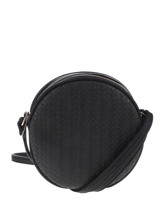 Čierna guľatá malá crossbody kabelka VERO MODA Tulle