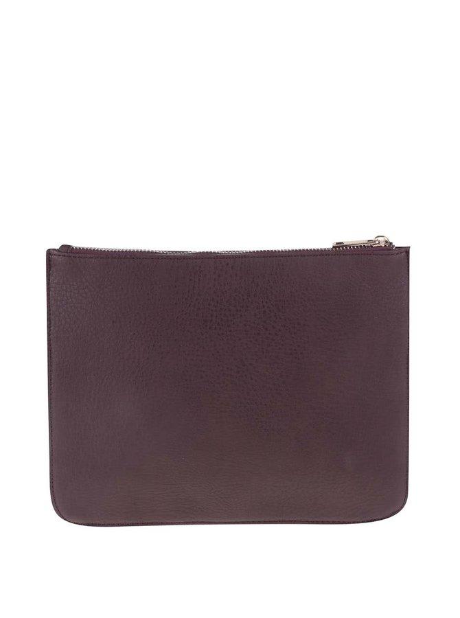 Vínovo-hnedá listová kabelka VERO MODA Anni
