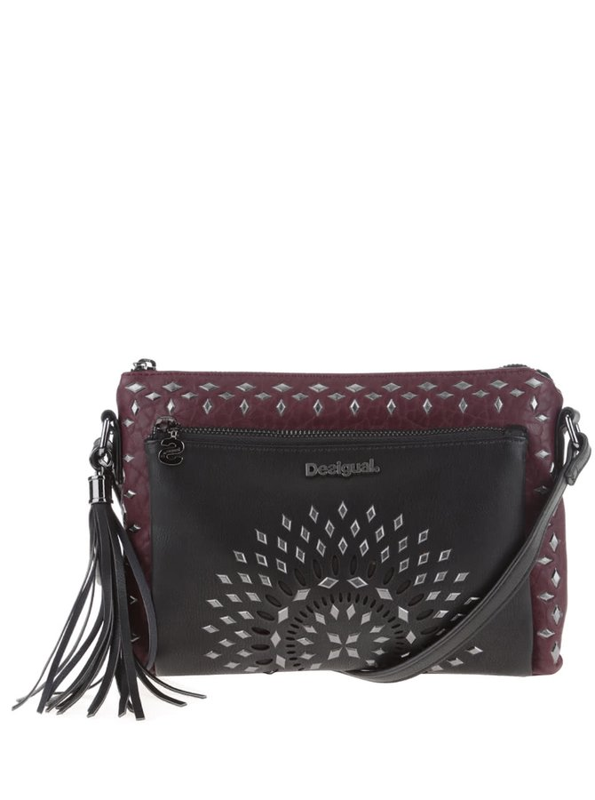 Geantă crossbody negru-vișiniu Desigual Toulouse Luxury Dreams