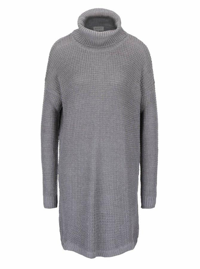 Svetlosivý dlhý sveter s golierom Desires Gynna