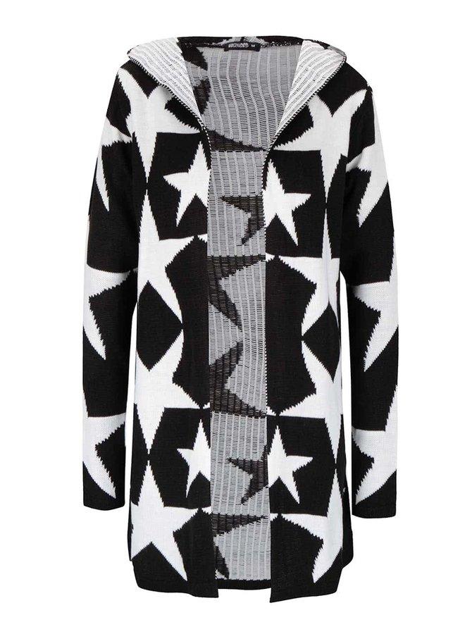 Krémovo-černý cardigan s kapucí Haily´s Starry