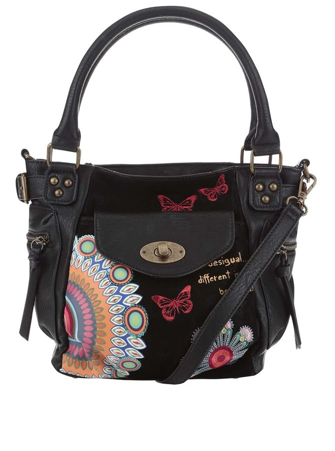 Černá kabelka s červenými motýlky Desigual McBee Mini Candy