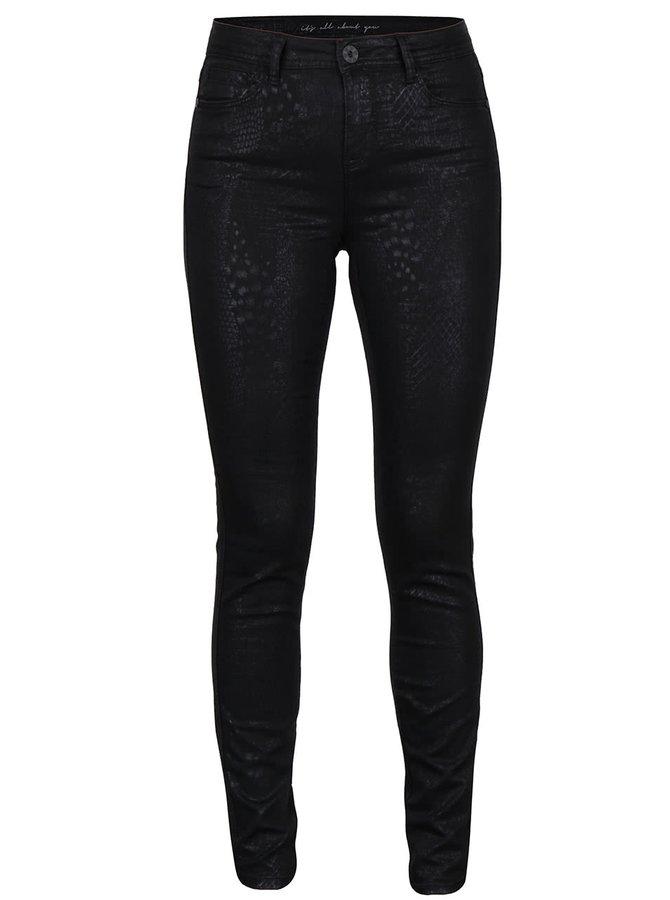 Černé vzorované dámské  džíny PEP Olly