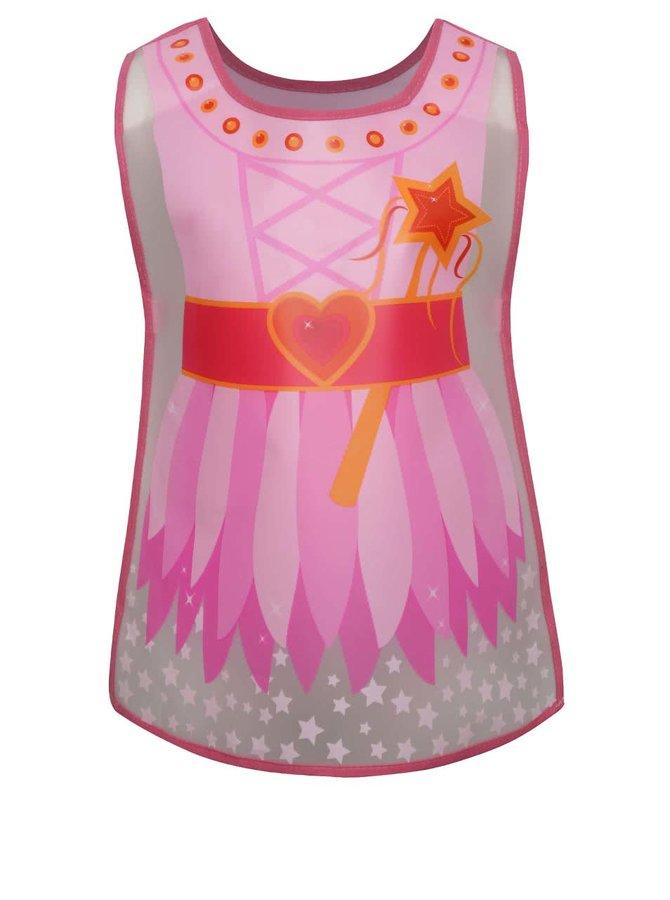 Șorț tip vestă pentru copii Cooksmart roz cu model