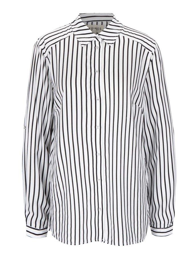 Čierno-krémová dámska pruhovaná košeľa Desires Gloria