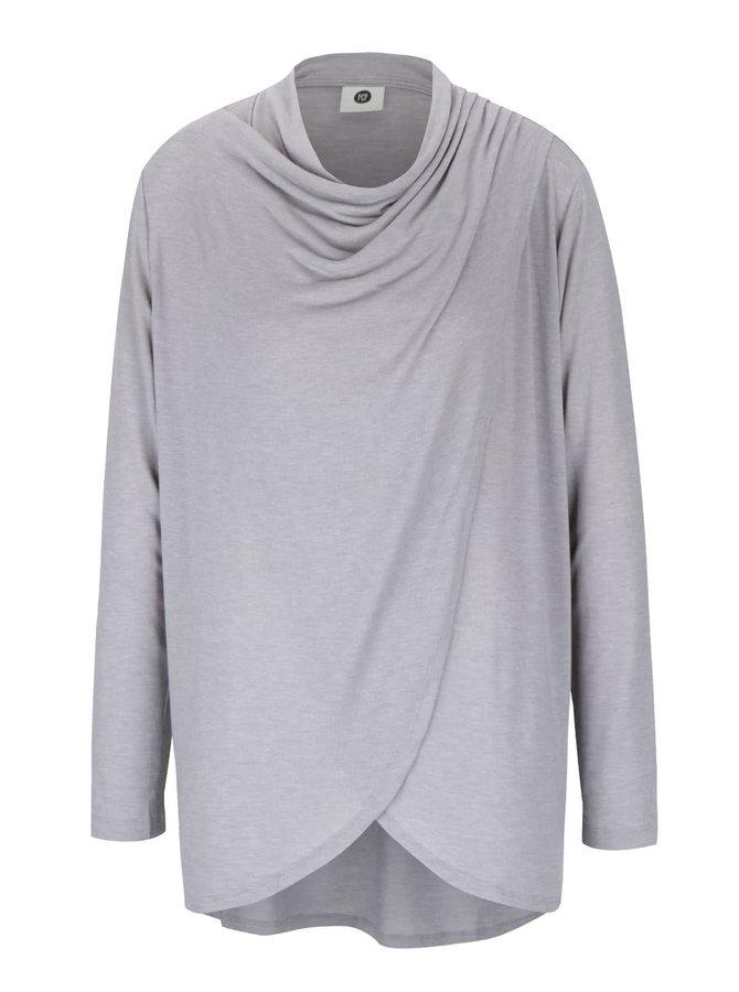 Sivé dámske melírované tričko s dlhým rukávom PEP Famous