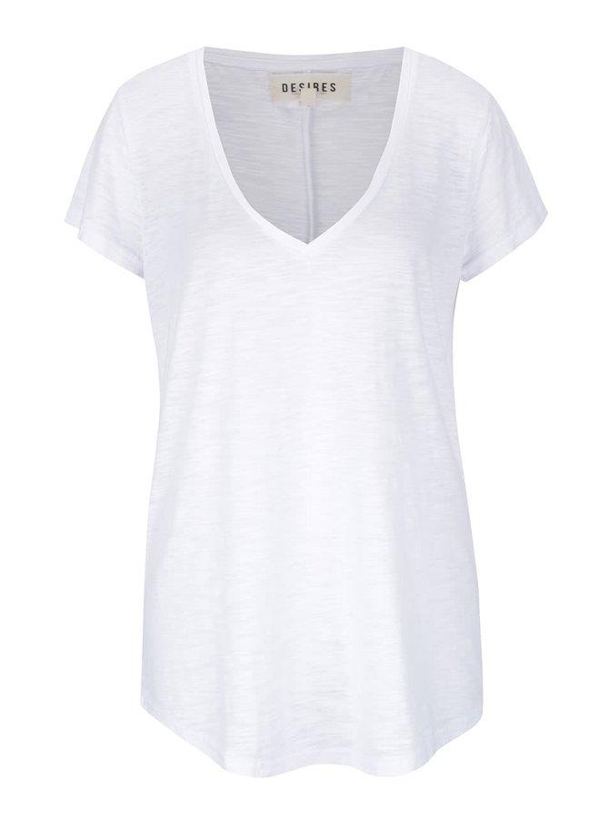 Bílé dámské žíhané tričko Desires Gael
