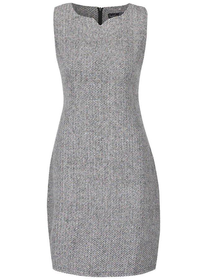 Sivé vzorované šaty s farebným melírovaním Smashed Lemon