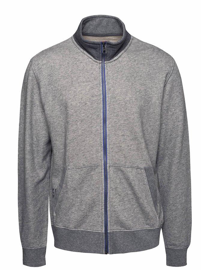 Bluză gri s.Oliver cu fermoar și model discret