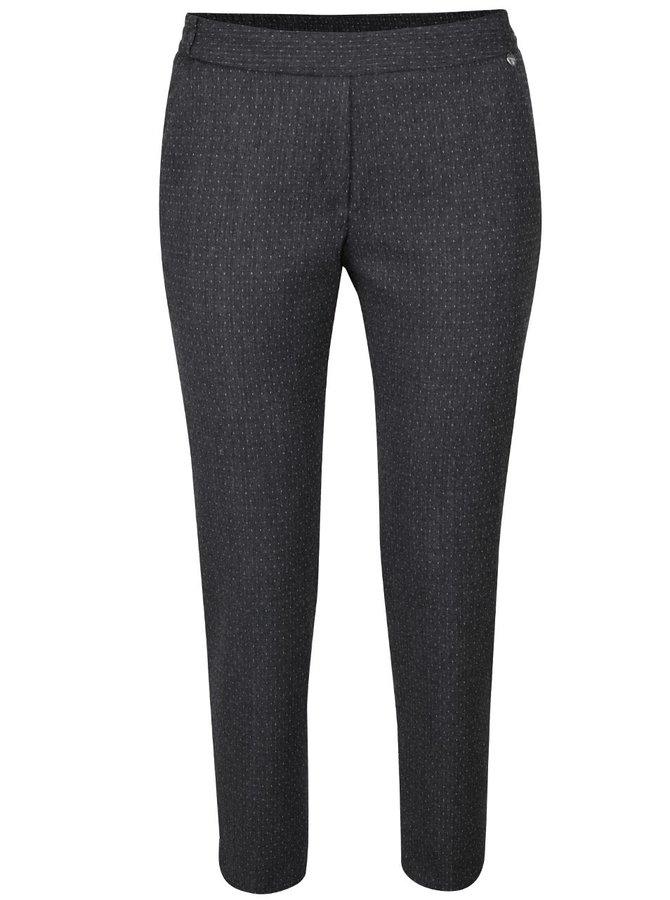 Tmavosivé voľnejšie nohavice s jemným vzorom Rich & Royal