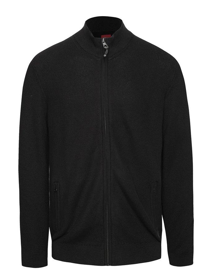 Bluză neagră s.Oliver din bumbac cu fermoar