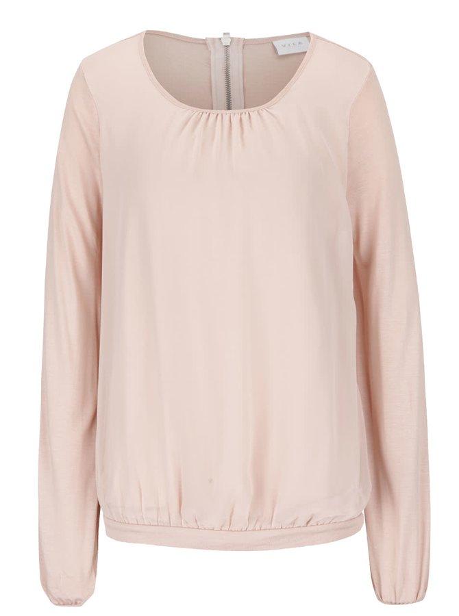 Bluză roz prăfuit VILA Fio