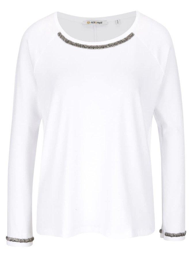 Bluză albă Rich & Royal cu aplicații