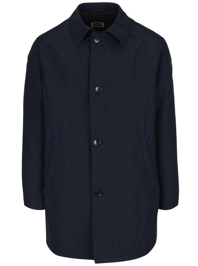 Tmavomodrý kabát s prímesou vlny bugatti