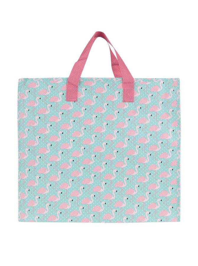 Růžovo-tyrkysová taška s plameňáky Sass & Belle