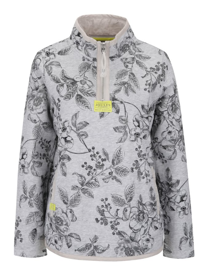 Bluză gri Tom Joule Southwold cu model înflorat
