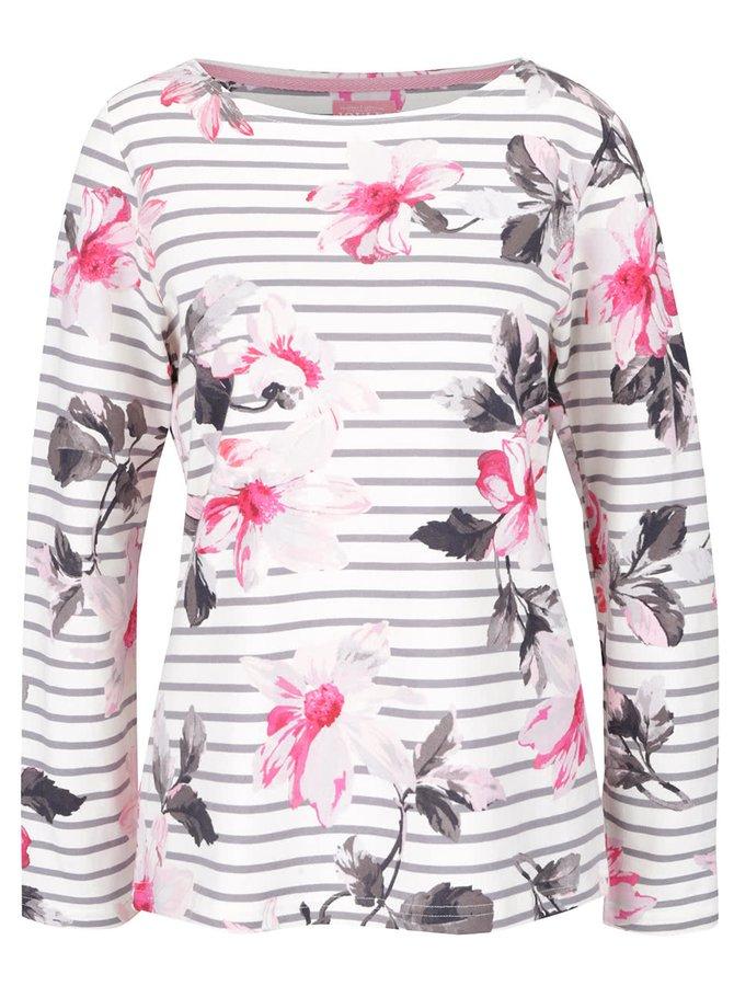 Bluză crem Tom Joule din bumbac cu model înflorat