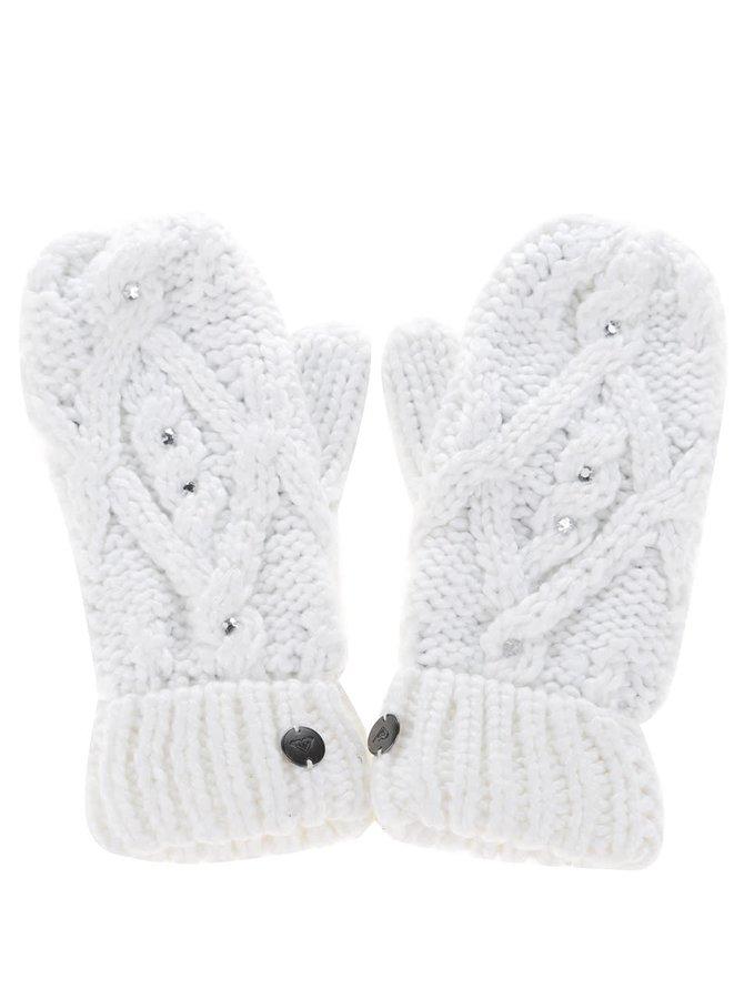 Bílé rukavice s aplikacemi Roxy Shootstarscarf
