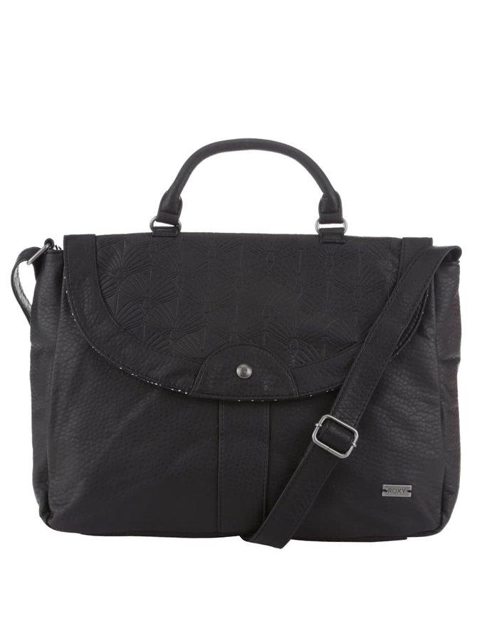 Čierna koženková kabelka Roxy Sun