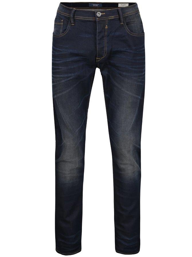 Tmavě modré džíny se zapínáním na knoflíky Blend