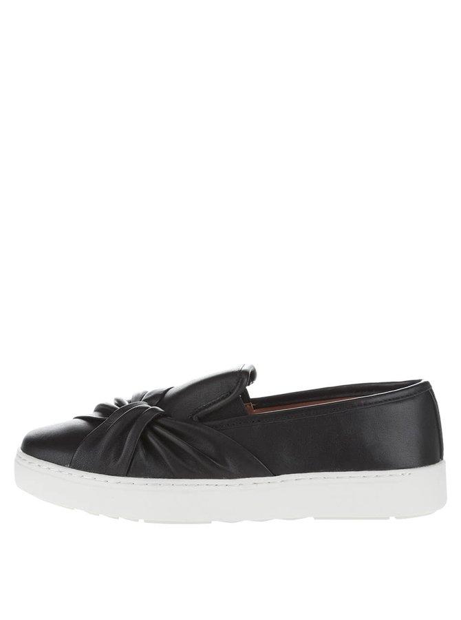 Čierne dámske kožené slip-on na platforme ALDO Fasullo