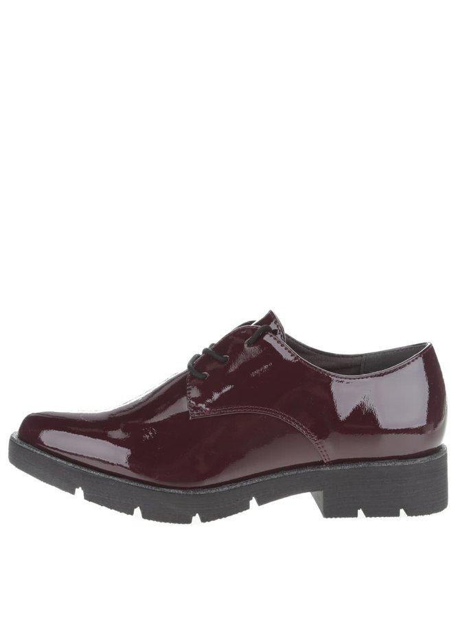 Pantofi lăcuiți Tamaris vișinii