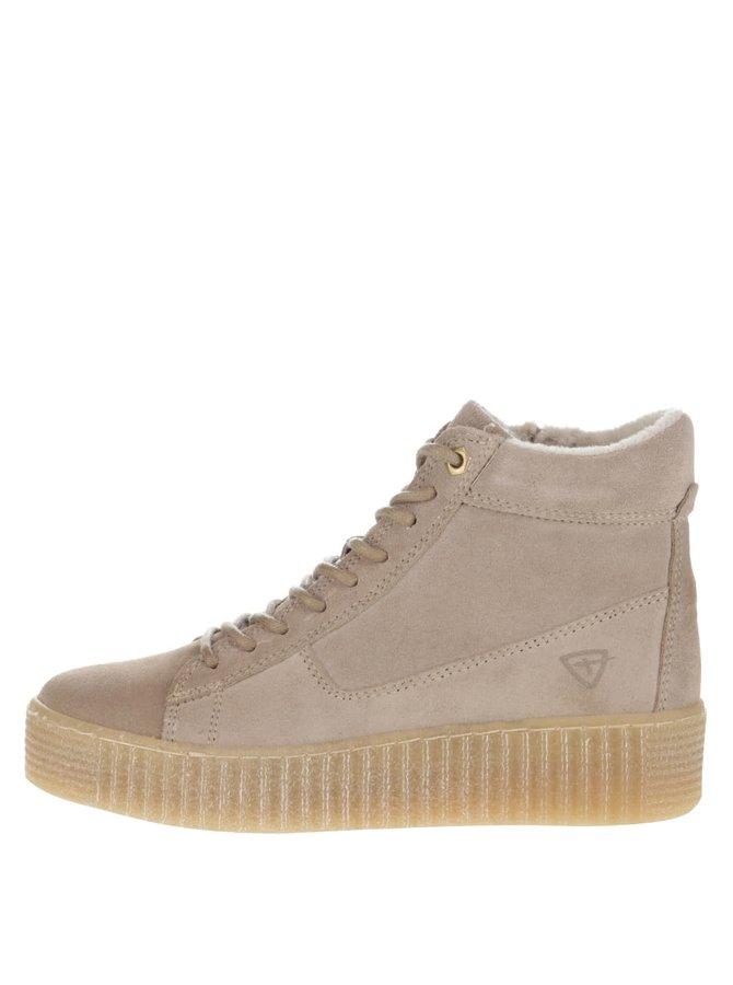 Pantofi sport înalți Tamaris bej