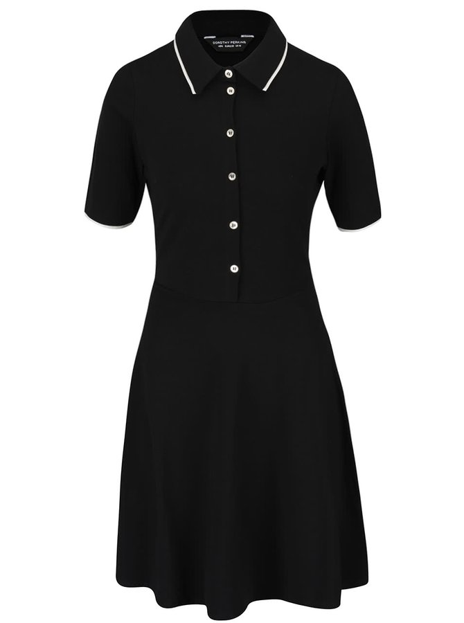 Rochie neagră cu aspect 2în1 Dorothy Perkins