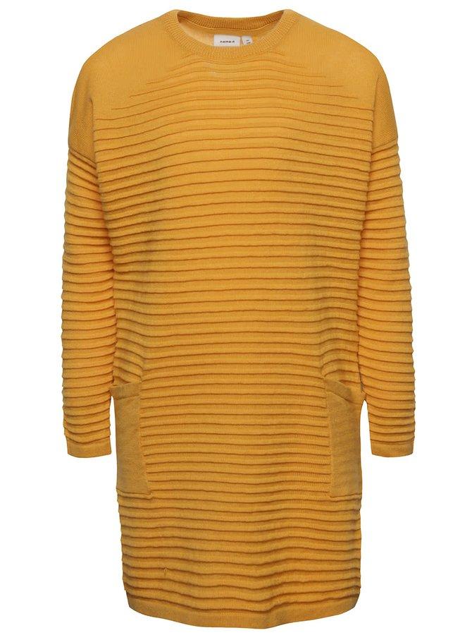 Žlté dievčenské svetrové šaty name it Wilda