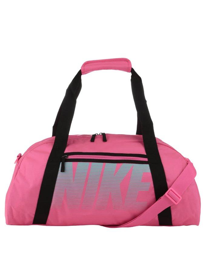 Neonově růžová sportovní taška Nike