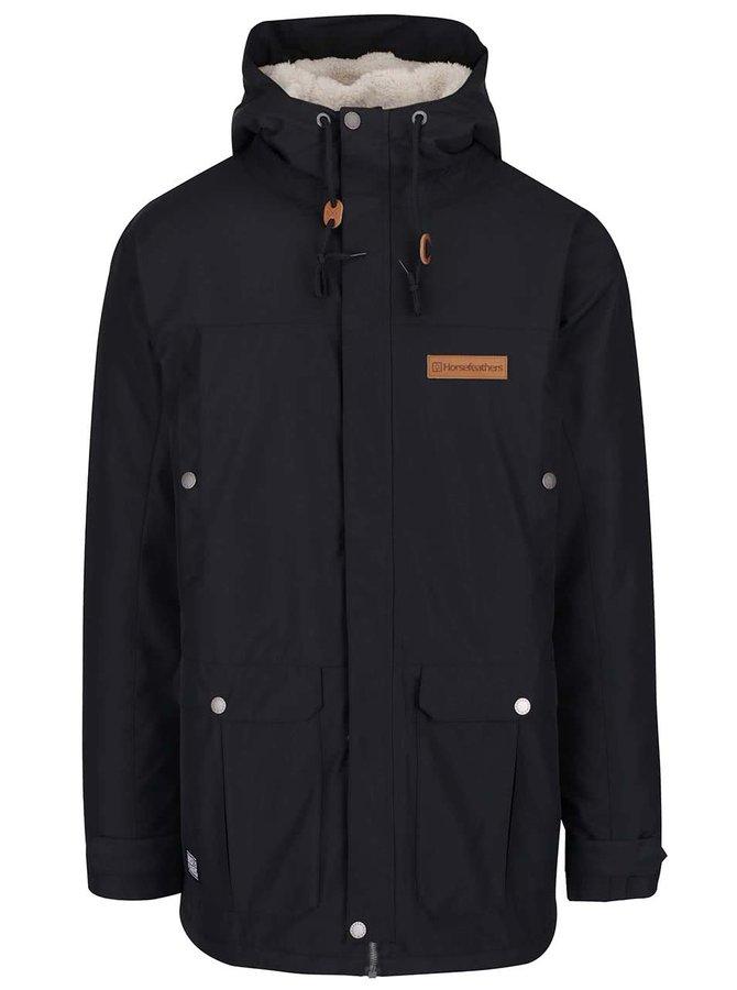 Černá pánská bunda s kapucí Horsefeathers Karluk