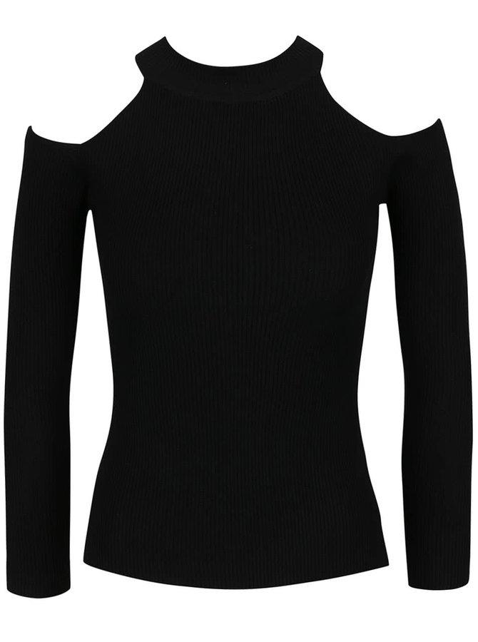 Černý svetr s odhalenými rameny Haily´s Peggy