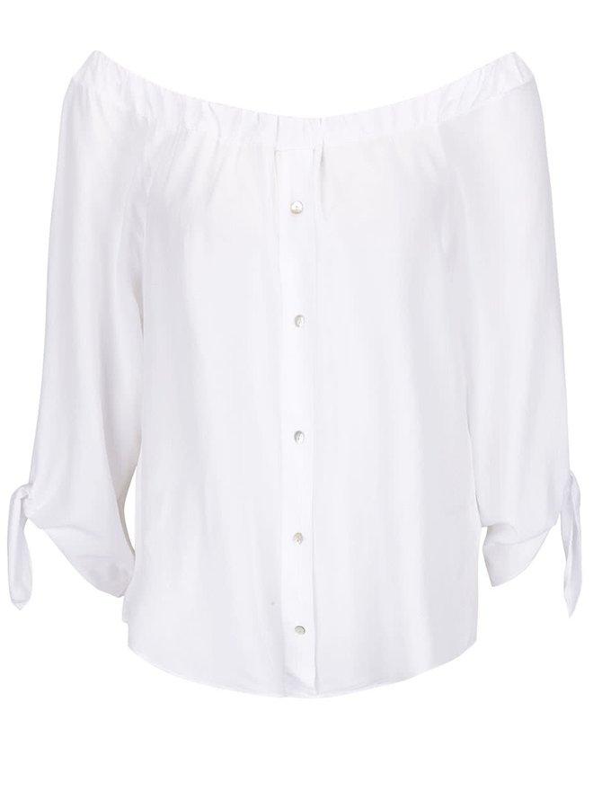 Bluză albă Haily´s Anette fără umeri