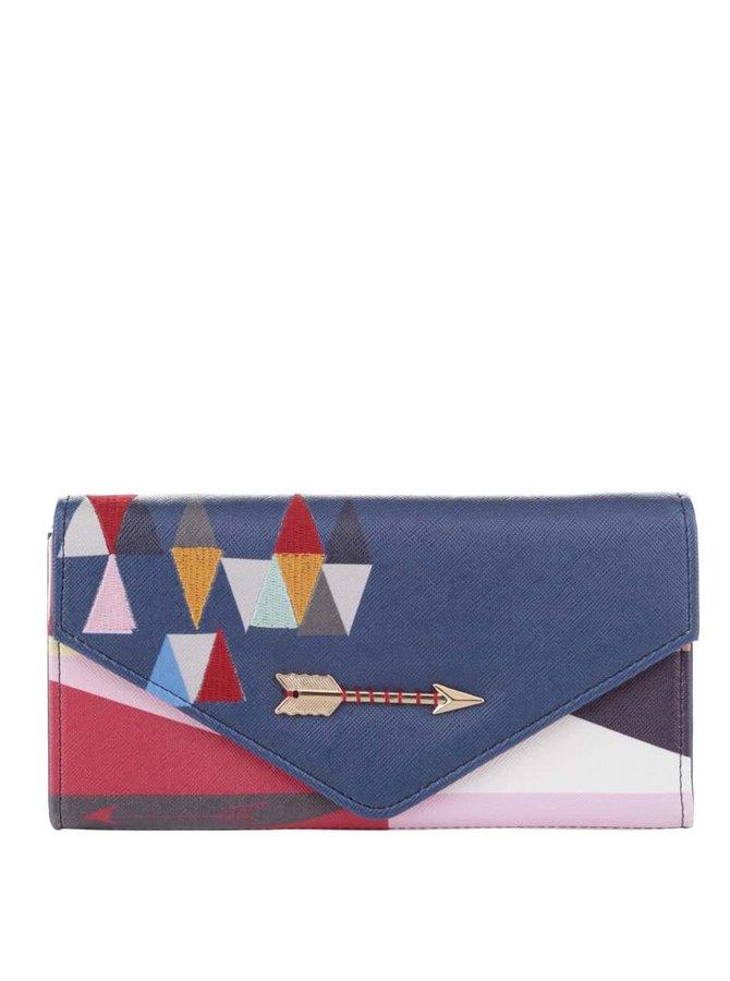 Tmavomodrá peňaženka s farebnými detailmi Disaster Dakota