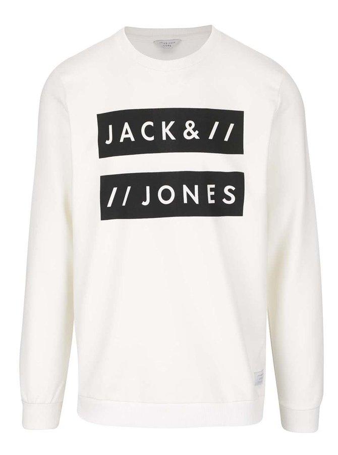 Krémová mikina s nápisom Jack & Jones Box
