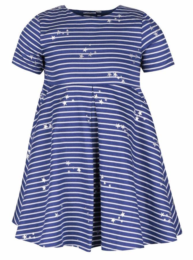 Modré dievčenské pruhované šaty s potlačou hviezd Tom Joule Constance