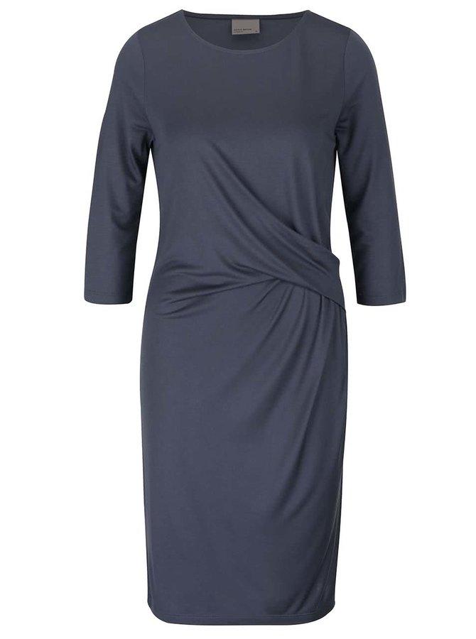 Sivomodré šaty s 3/4 rukávom Vero Moda Monica