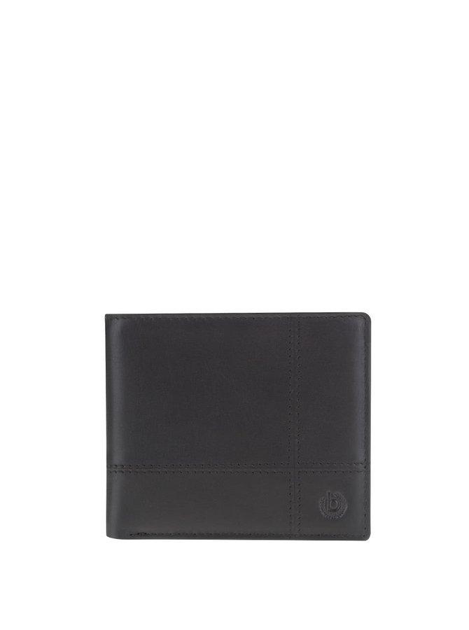 Čierna pánska kožená peňaženka bugatti Bradford