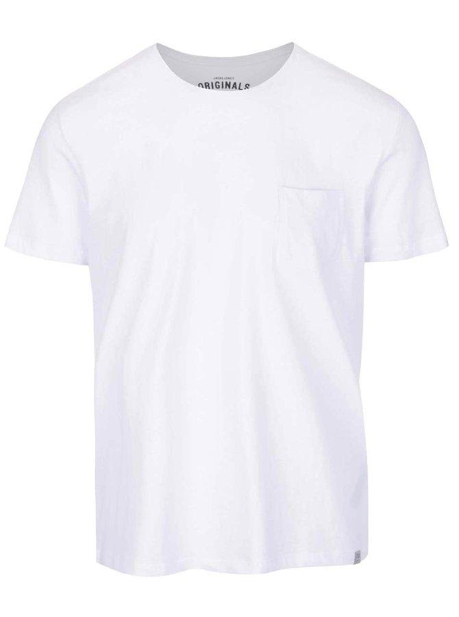 Bílé triko s kapsou Jack & Jones Ari