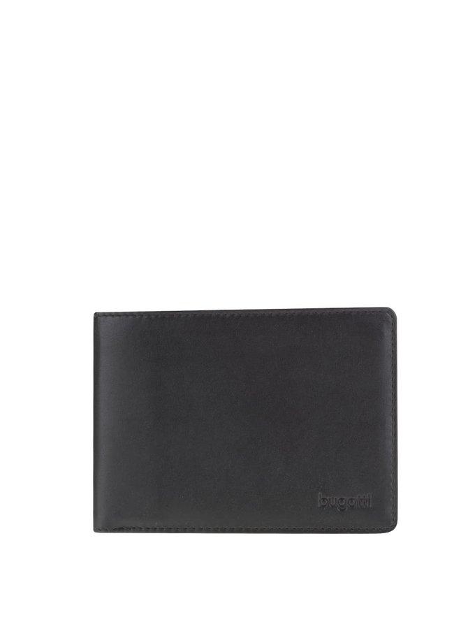 Čierna pánska kožené peňaženka bugatti Primo