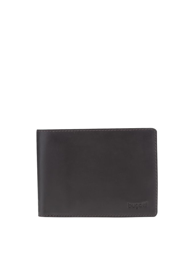 Tmavě hnědá pánská kožená peněženka bugatti Primo